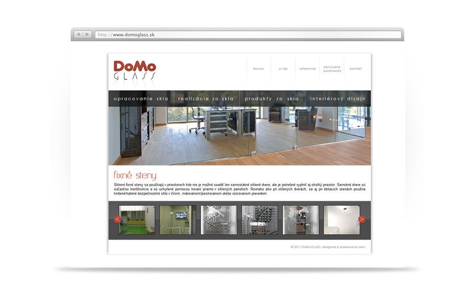 domoglass -  web page