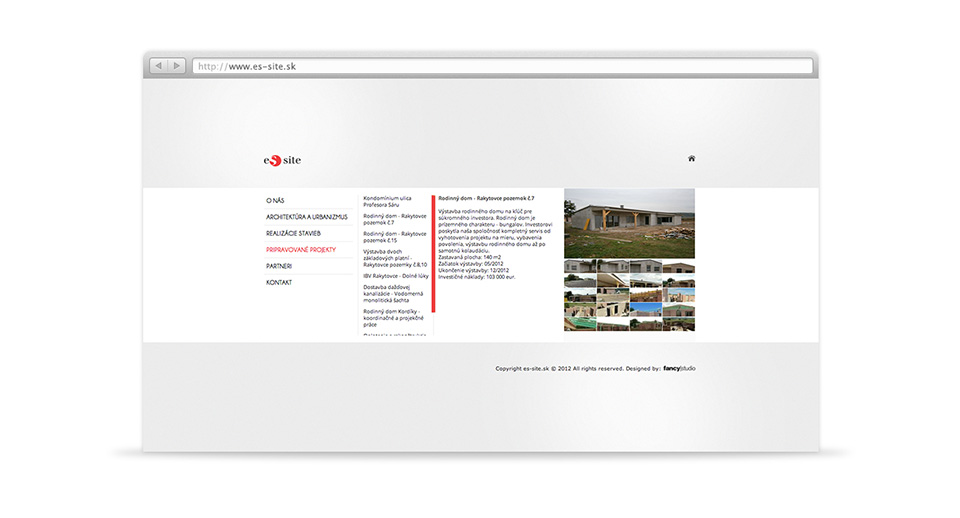 es site -  web stránka