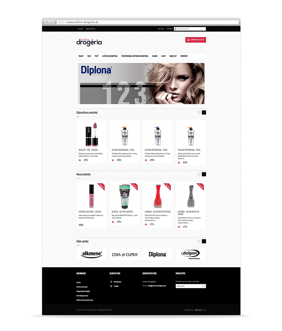 online-drogeria -  web stránka