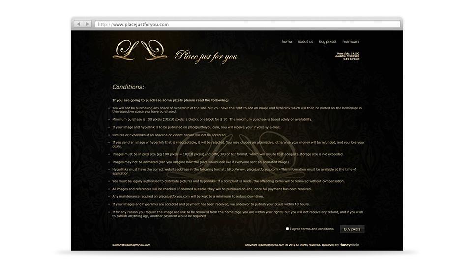 placejustforyou -  web page