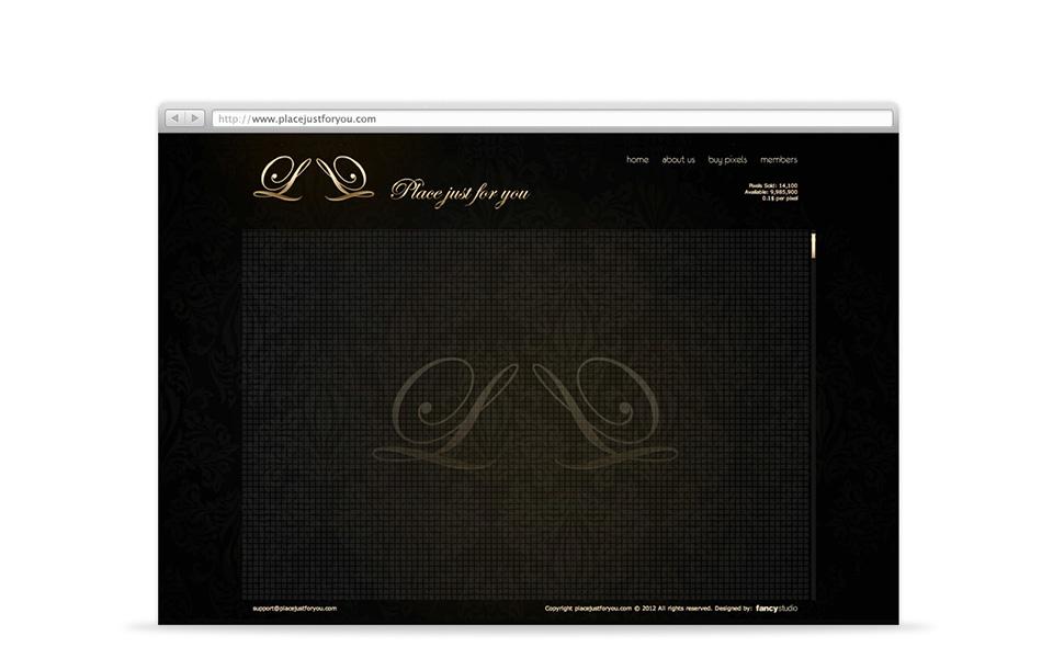 placejustforyou -  web stránka